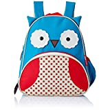 "Skip Hop Toddler Backpack, 12"" Owl School Bag, Multi"