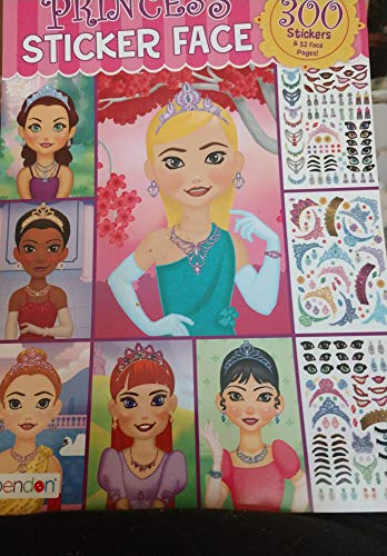 Princess Face - Princess Sticker Face 300 Stickers and 32 Face Pages (Cover design may vary)