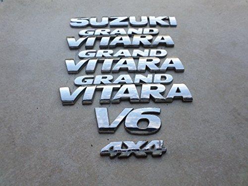 - 99-03 Suzuki Grand Vitara 4X4 Side Door Logo 77841-65D21-OPG Ornament 77842-65DAA-OPG Tailgate Emblem 77821-58J00-OPG Decals Set