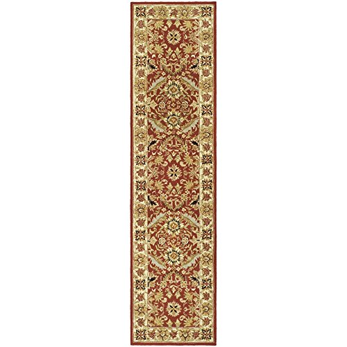 Safavieh Chelsea Collection HK157A Hand-Hooked Red and Ivory Premium Wool Runner (2'6