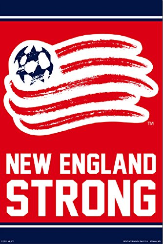 New England Revolution | Official Team Crest Poster - England Team Poster