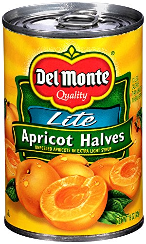 Del Monte Canned Apricot Halves in Extra Light Syrup, 15-Ounce by Del Monte