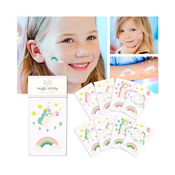 Unicorn Temporary Tattoos for Kids - Unicorn Party Favors, Birthday Decorations and Supplies - Non-toxic and Waterproof… 3