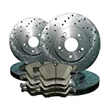 2008 08 2009 09 2010 10 2011 11 Ford F250 SD 2WD (Front+Rear Rotors + Ceramic Pads)-Cross Drilled