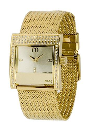 Moog Paris Champs Elysées Women's Watch with Champagne Dial, Gold Stainless Steel Strap & Swarovski Elements - M44794-002