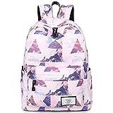 LUNCY Girls Casual Travel Backpack School Bag School Backpack Book Bag Laptop Backpack (Pink)