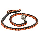 Orange And Black Get Back Whip For Motorcycles
