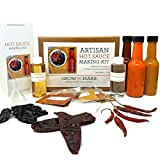 DIY Artisan Hot Sauce Making Kit - Cook Up 3 Easy Spicy Sauces at Home With Chipotle, Guajillo, and Arbol Peppers!