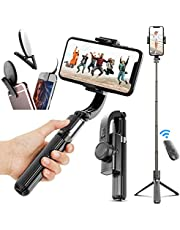 Gimbal Stabilizer for Phone Bluetooth Selfie Stick Tripod Anti-Shake Handheld CellPhone TripodStand Holder for Smartphone iPhone12 11 8 Plus X Android,for Vlog Video Photography Youtube Tik Tok Live Stream
