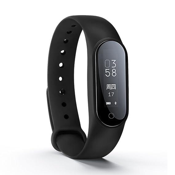 Hombres y mujeres Led smartwatches,30m impermeable Pantalla táctil Digital Sueño Pulsómetro Reloj deportivo Contador de pasos Multifunción Pulsera Niña-A: ...
