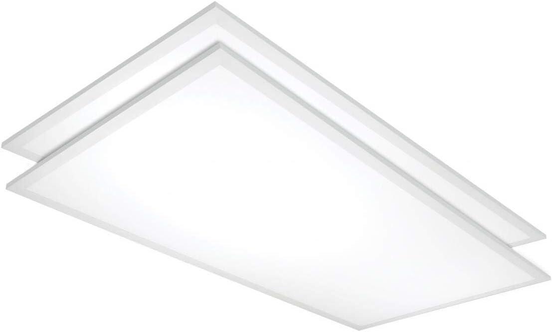 2 X 4 Flat Panel DLC 4.2 120-347v White Industrial Metal Energy Efficient