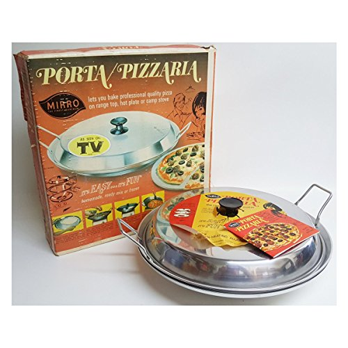 Vintage As Seen On TV Mirro Aluminum Co. Porta Pizzaria Stove Top Pizza Maker