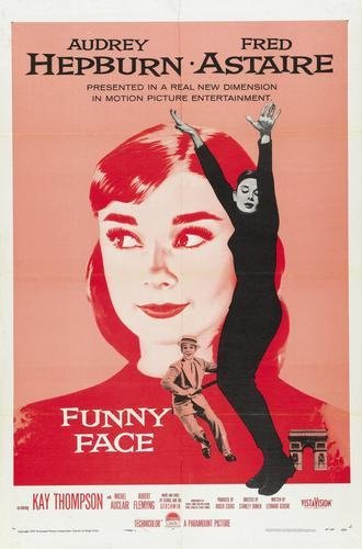 Funny Face Audrey Hepburn Movie Poster 11x17 Master Print