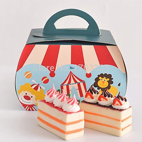 Box Macarons - Wholesale 1000pcs Circus Troupe Carnival Decoration Paper Cupcake Box Macarons Chocolate Dessert - Birthday Macaron Circus Pack Kraft For Cupcake Party Santa Claus