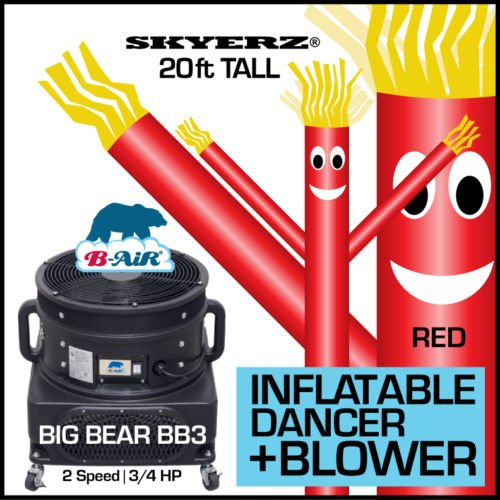 Nice 20FT Red Skyer Wacky Waving Inflatable Fly Sky Guy Puppet Advertising Dancing Tube Includes 1HP SKYER Blower! supplier