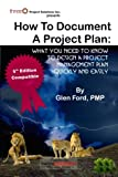How to Document a Project Plan, Glen Ford Pmp, 0986788546