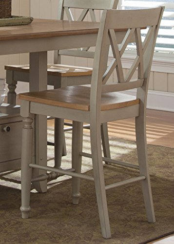 Liberty Furniture 541-B300024 Al Fresco III Double X Back Counter Chair, 19