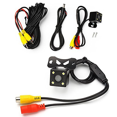 4 LED 4 LED Car CCD HD Cam/éra de recul Cam/éra de Recto-Verso Grand Angle de 170 degr/és Cam/éra de stationnement Anti-Retour /à Vide /étanche et /à Vision Nocturne Black