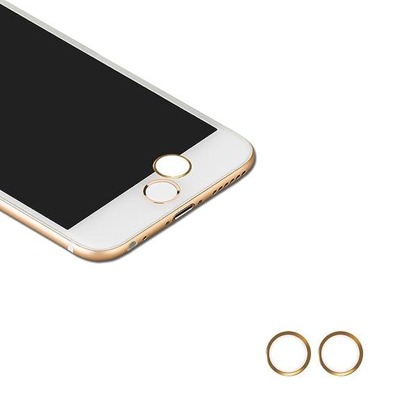 d9e1c8f44f7 Touch ID Button,(2 pack) BUTEFO Home Button Sticker (Support Fingerprint  Indentification