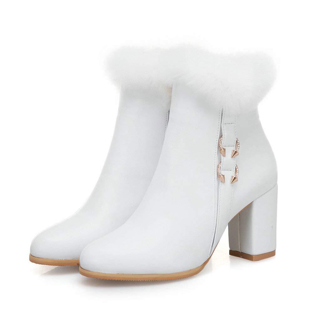 AnMengXinLing PUGONGYING-70-H631, Damen Cowboy Stiefel, Weiß - weiß - Größe Größe Größe  EU 40 9ff342