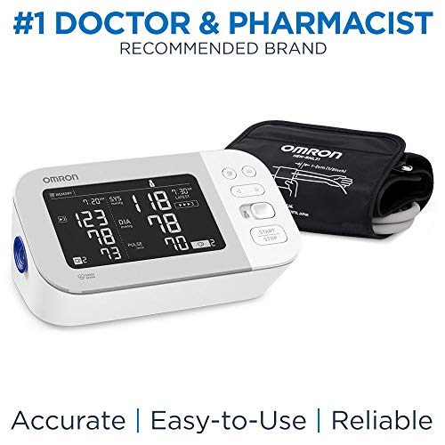 OMRON Platinum Blood Pressure Monitor, Premium Upper Arm Cuff, Digital Bluetooth Blood Pressure Machine, Storesup to 200 Readings for Two Users (100 Readings Each) (Digital Blood Pressures)
