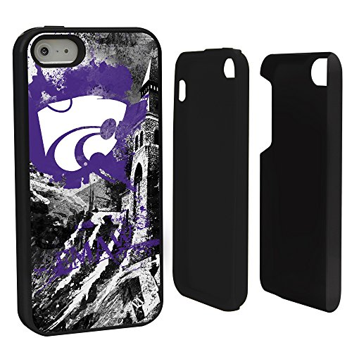 Guard Dog NCAA Kansas State Wildcats Paulson Designs Hybrid Case for iPhone 5/5S, Black