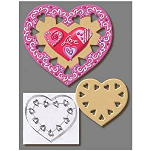 """Large 7.5"""" Heart Cookie Cutter Stainless Steel 5877"""