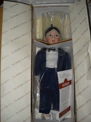 Alfalfa the Little Rascals Doll MIB 1993 Porcelain Hamilton Collection COA - Porcelain Hamilton