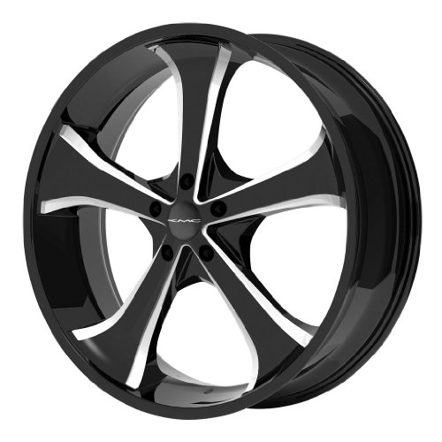 KMC KM680 22x9.5 Black Wheel / Rim 5x5 with a 38mm Offset and a 78.30 Hub Bore. Partnumber KM68022950338
