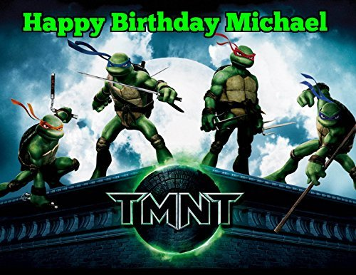 Teenage Mutant Ninja Turtles 90s TMNT Edible Image Photo Sugar Frosting Icing Cake Topper Sheet Personalized Custom Customized Birthday Party - 1/4 Sheet - 74815 ()