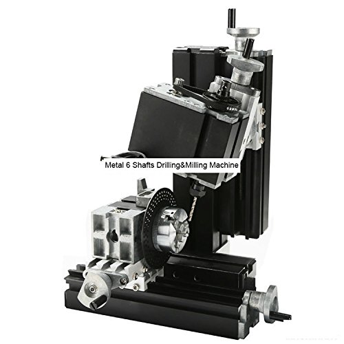 TZ10002MM 60W Metal 6 Shafts Drilling&Milling Machine/60W,12000rpm Powerful Mini Multifunction lathe by MUCHENTEC