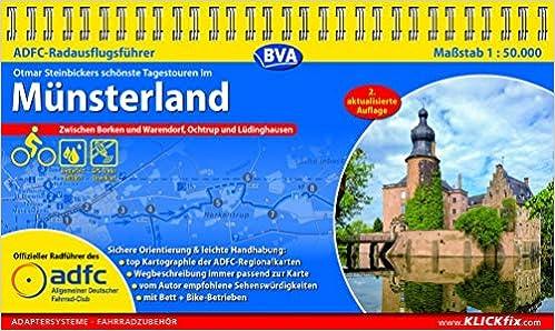 ADFC-Radausflugsführer Münsterland 1:50.000 praktische Spiralbindung, reiß- und wetterfest, GPS-Tracks Download: Zwischen Borken und Warendorf, Ochtrup und Lüdinghausen
