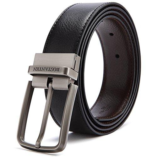 BOSTANTEN Reversible Dress Leather Belts for Men 1 3/8