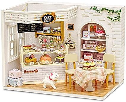 Amazon.com: cuteroom Dollhouse miniatura DIY Kit de casa con ...
