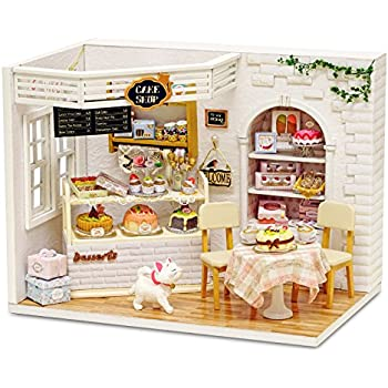 Sodial Diy Miniature Wooden Doll House Furniture Kits Toys Handmade