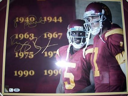 Authentic Reggie Bush & Matt Leinart Autograph USC 16x20 Photo w ...