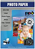 PPD Inkjet Glossy Heavyweight Photo Paper 11x17'' 64lbs. 240gsm 10.9mil x 50 Sheets (PPD009-50)