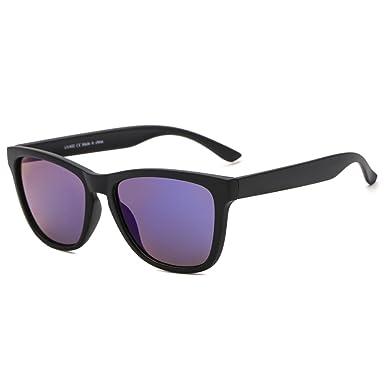 SUERTREE gafas de sol cuadradas mujeres hombres espejos retro vintage moda 80s90s retro gafas UV400 JH9002