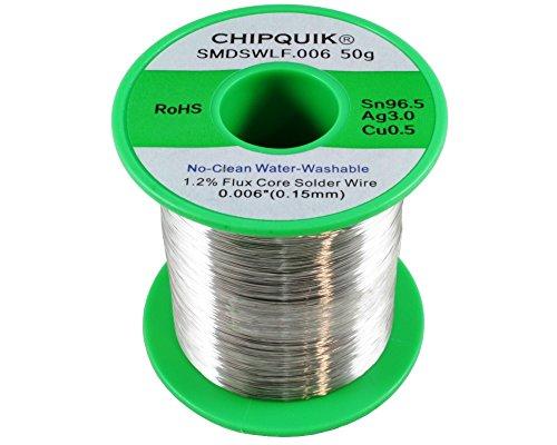 LF Solder Wire 96.5/3/0.5 Tin/Silver/Copper no-clean .006 50g ULTRA THIN