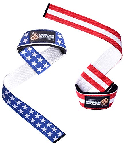 DMoose Fitness Lifting Straps 2-Piece Weightlifting Wrist Straps for Men and Women - Neoprene Padding - Secure and Comfortable - Non-Slip Support and Adjustment Loop - Powerlifting, Weightlifting