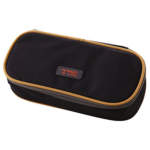 Tpingfe Big Capacity Multifunction Canvas Pencil Case Bag Storage Organizer Pencil Case (Black)