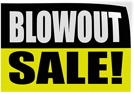 Set of 5 Decal Sticker Multiple Sizes Store Wide Sale Yellow Black Business Sale Outdoor Store Sign Yellow 27inx18in