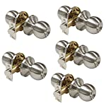 Probrico Brushed Nickel Privacy Door Lockset Door Knobs For Bedroom or Bathroom Door 5 Pack