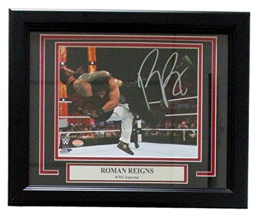 Roman Reigns Signed & Framed WWE 8x10 Photo Vs Bray Wyatt SI (Wwe Royal Rumble Winners)