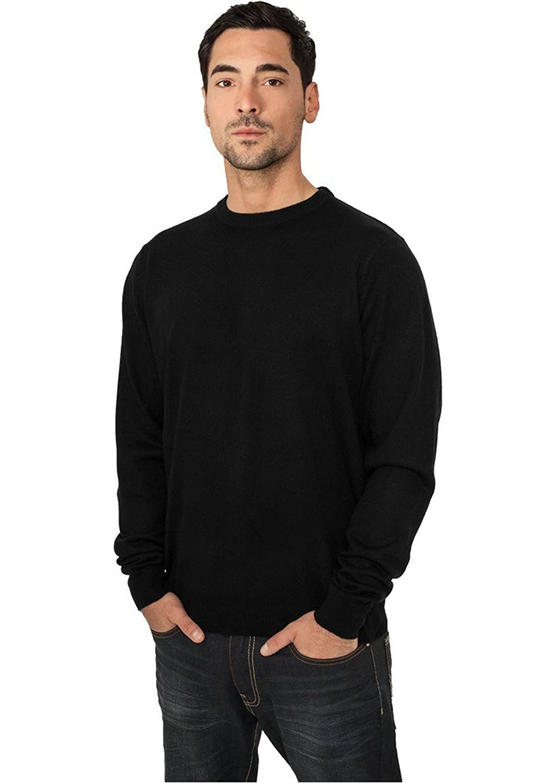 Urban Classics Men Knitted Crewneck TB402, color:black,size:M
