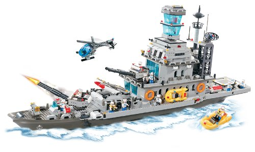Brictek Giant Battleship Cruiser Set 1745 Pcs Building Blocks