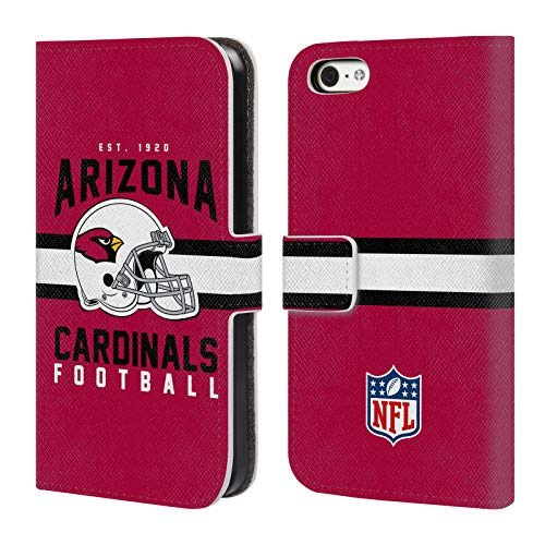 Official NFL Helmet Typography 2018/19 Arizona Cardinals Leather Book Wallet Case Cover for iPhone 5c