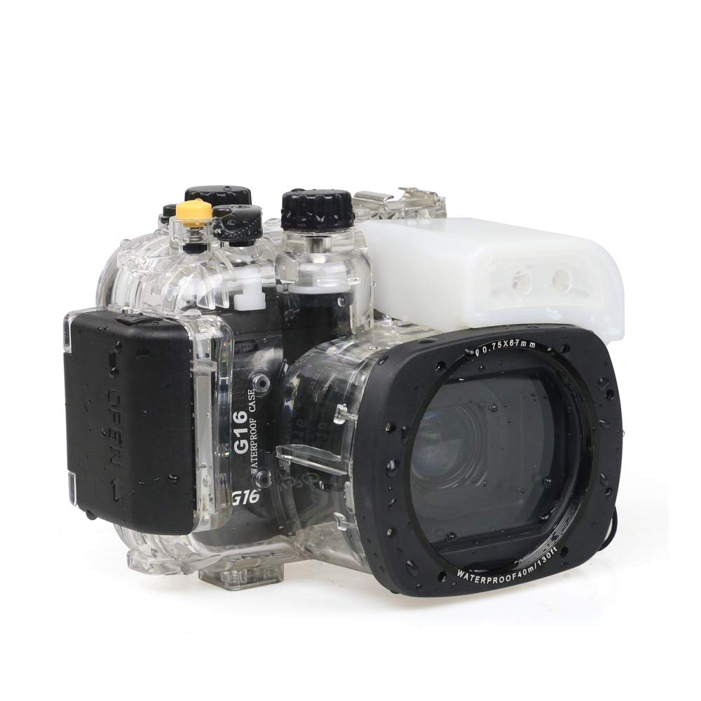 Sea frogs for Canon G16 Underwater Waterproof Camera Housing Diving Case by Sea frogs