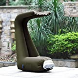 Dporticus Inflatable Air Lounger with Sun canopy and Carry Bag Sunshade Easy Blow Up Hangout Couch for Indoor and Outdoor for Beach Pool Picnic Camping