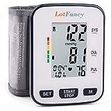 "Wrist Blood Pressure Monitor by LotFancy, 2 User Mode, 5.3"" - 8.5"" Cuff"